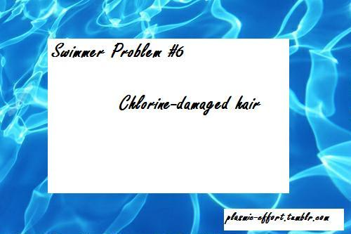 Chlorine-damaged hair
