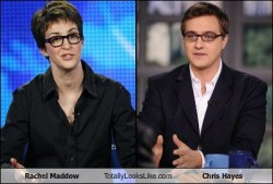 Rachel Maddow Totally Looks Like Chris Hayes Nobody had made this one yet, so I had to bring justice to the universe.