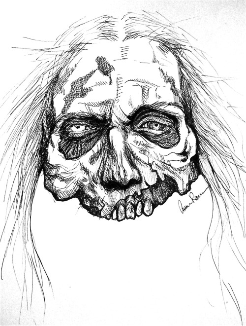 eatsleepdraw:    ✖zombie head✖  You always need to be prepared for zombie apocalypse…