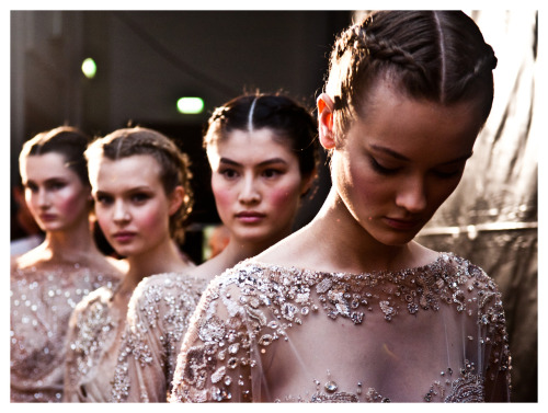 eliesaab:  The Byzantine beauty brought back to life…. - ELIE SAAB Haute Couture Fall Winter 2012-13 Backstage