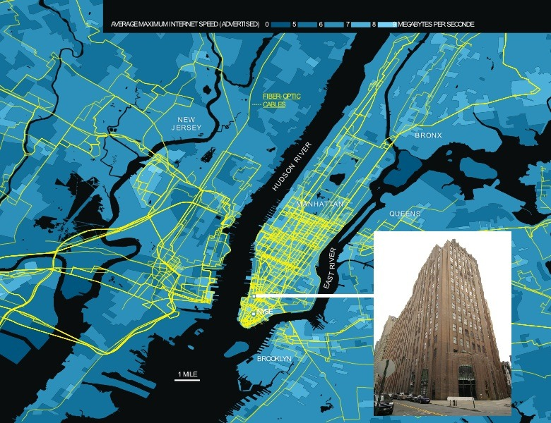 matthurst:  And this is what NYC's internet infrastructure looks like on a map