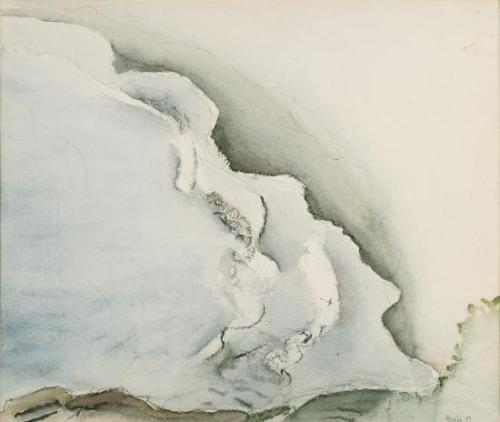 John Marin White Waves On Sand, Maine, 1917 Watercolor and charcoal on paper 15 7/8 in. x 18 3/4 in. Gift of John Marin, Jr. and Norma B. Marin, 1973.044 Colby College Museum of Art