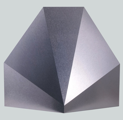 paddle8:  Carol Ross, Faceted Dome, 1993, aluminum laminate, 16 x 17.5 x 7 inches, courtesy of Janos Gat Gallery.  Check out more amazing work available in the Watermill Benefit Auction - online bidding begins today!