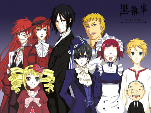 ladygrell:  phantomhiveciel:  So yes, this is Us. I have no idea what Grell is doing there, he wasnt even nearby when we took the picture.   I'm always there. Always. Think about that for a moment, little brat.  … Terrified yet?  Terrified?……