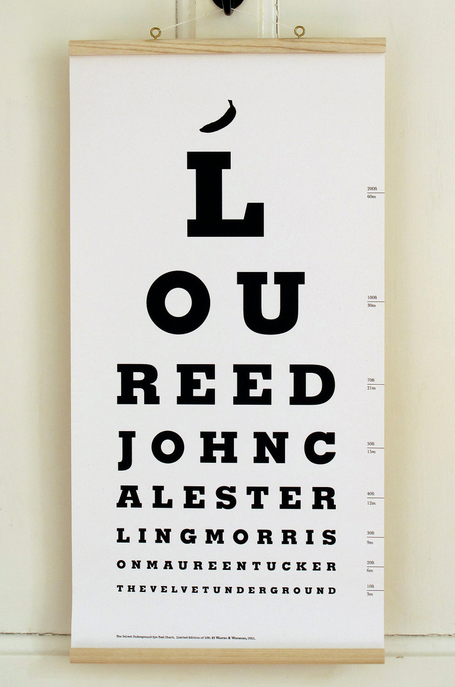 nevver:  The Velvet Underground Eye Test Chart