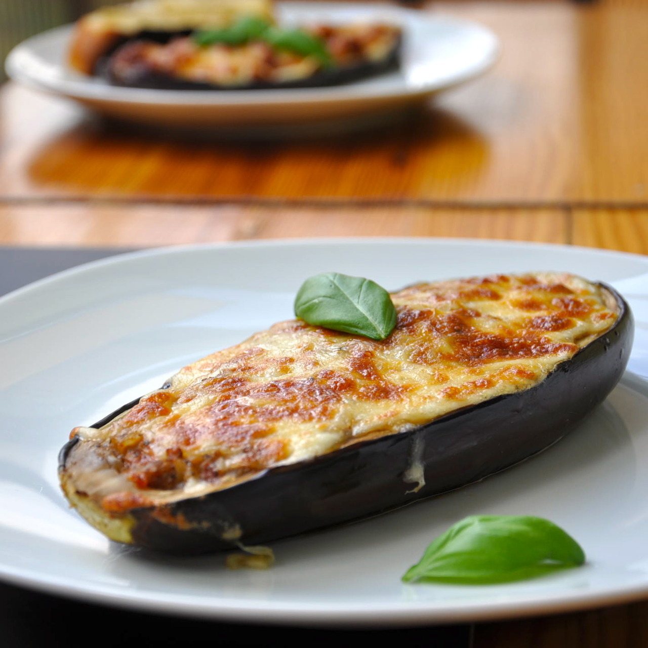 FoodShot #37: Eggplant stuffed with turkey Target: Lose Weight Preparation time: 50 minutes Serving: 483 g Calories: 381  Protein: 26,6 g Fat: 9,2 g Carbohydrates: 58 g Get The Recipe Visit Daybite.com to get the right portion size tailored to you.
