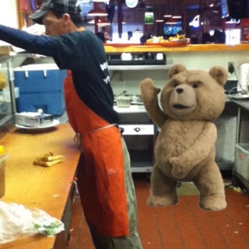 I pick on this guy sooo much #tumblr  #ted #lol #hooters #nofilter #instagram  (Taken with Instagram)