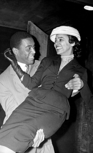 "Dorothy Dandridge and Alex Cressan, her co-star in the 1958 film ""Tamango"" (he played the title role, the leader of a slave revolt) at Maxim's in Paris in April, 1957. Mr. Cressan was a medical student in Martinique before he made ""Tamango,"" his only film.  Photo: Keystone-France/Gamma-Keystone via Getty Images."