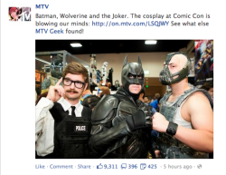 Proof that MTV knows even less about movies than they do about music. (via MTV Incorrectly Identifies Batman Characters | Happy Place)