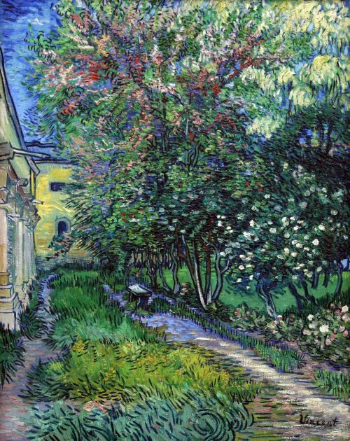wildthicket:  Jardin De L'Hospice Saint-Paul by Vincent Van Gogh, 1889