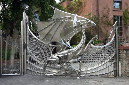 sauntering-vaguely-downwards:   #I would sit outside this gate and cry and hold down the intercom button and tell the person inside how beautiful their gate is #and they would call the police to collect the drunkard off their driveway #but I would be completely sober and still crying over this beautiful gate  I kinda want this, but then every time someone visits the rest of my home would just be a disappointment.