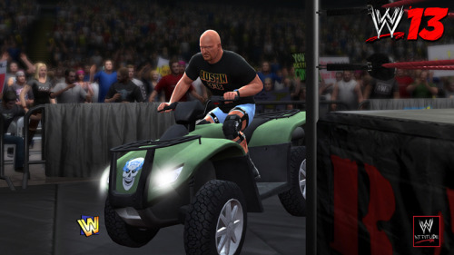 THQ Reveals WWE '13 Collector's Edition Featuring Stone Cold Steve Austin It's obvious THQ is focusing on the Attitude Era for its upcoming WWE '13 title, with the latest announcement being the release of a collector's edition featuring Stone Cold Steve Austin. The SCSA Collector's Edition is $79.99 and includes exclusive DLC (in-ring attire, ATV ring entrance), collectible art card signed by the Texas Rattlesnake, access to Mike Tyson as a playable character, a disc from Stone Cold Steve Austin: The Bottom Line on the Most Popular Superstar of All Time, special packaging and a copy of WWE '13. Those expecting to pre-order the collector's edition in stores are out of luck, as it's only available from the THQ Store and WWE Shop. Screenshots of the SCSA Collector's Edition are available on the SGS Facebook page. THQ also released a trailer to commemorate the announcement.