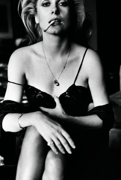 Catherine Deneuve by Helmut Newton, Paris, 1976.