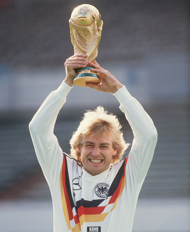 Jurgen Klinsmann, 1990 World Cup winner, during a publicity photo shoot.Source: Hamburger Abendblatt