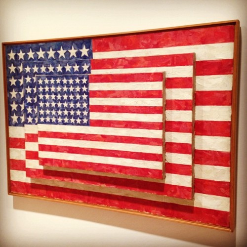 Jasper Johns painting of 'flags on flags on flags' (Taken with Instagram at Whitney Museum)