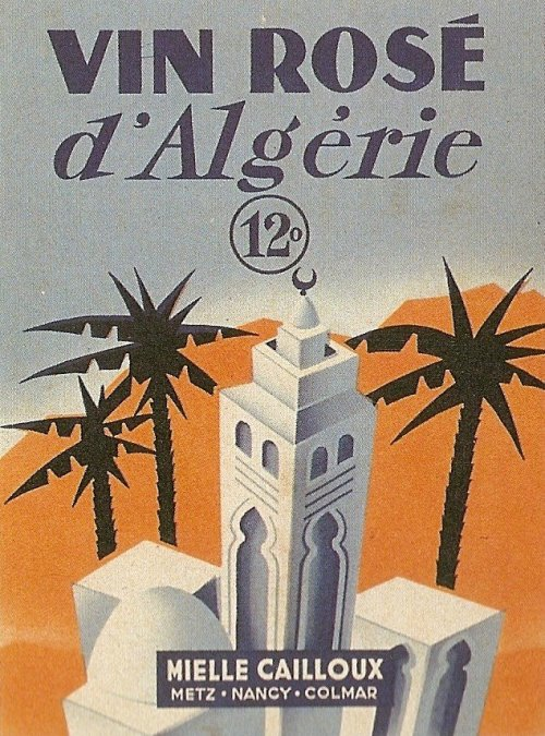Algeria Wine Label