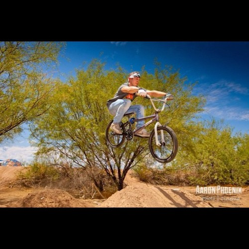 Photo I took of @radicalthad jumping his #bmx #bike off some #dirt #jumps #sky #blue #5dmii #5d #canon  (Taken with Instagram)