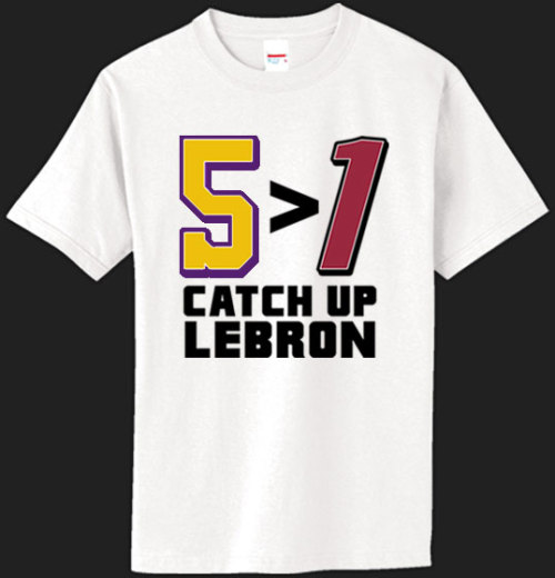 Yes, LeBron got ONE ring, but he still has LOTS of work to do!On sale for ONLY $13 at: http://ducetwo.com/catchup.html