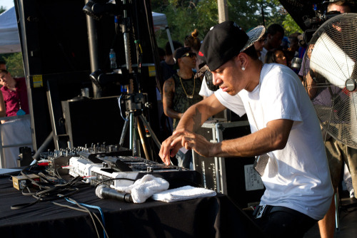 Araabmuzik at the Pitchfork Music Festival. Photo by Rebecca Smeyne.