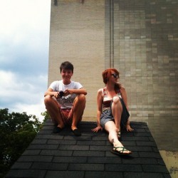 lezgolezgo:  vag-enius:  up on the rooftops, listening to punk rock (Taken with Instagram)  we found the roof!   THEY DID IT WOOOOO the legend of 206 lives on
