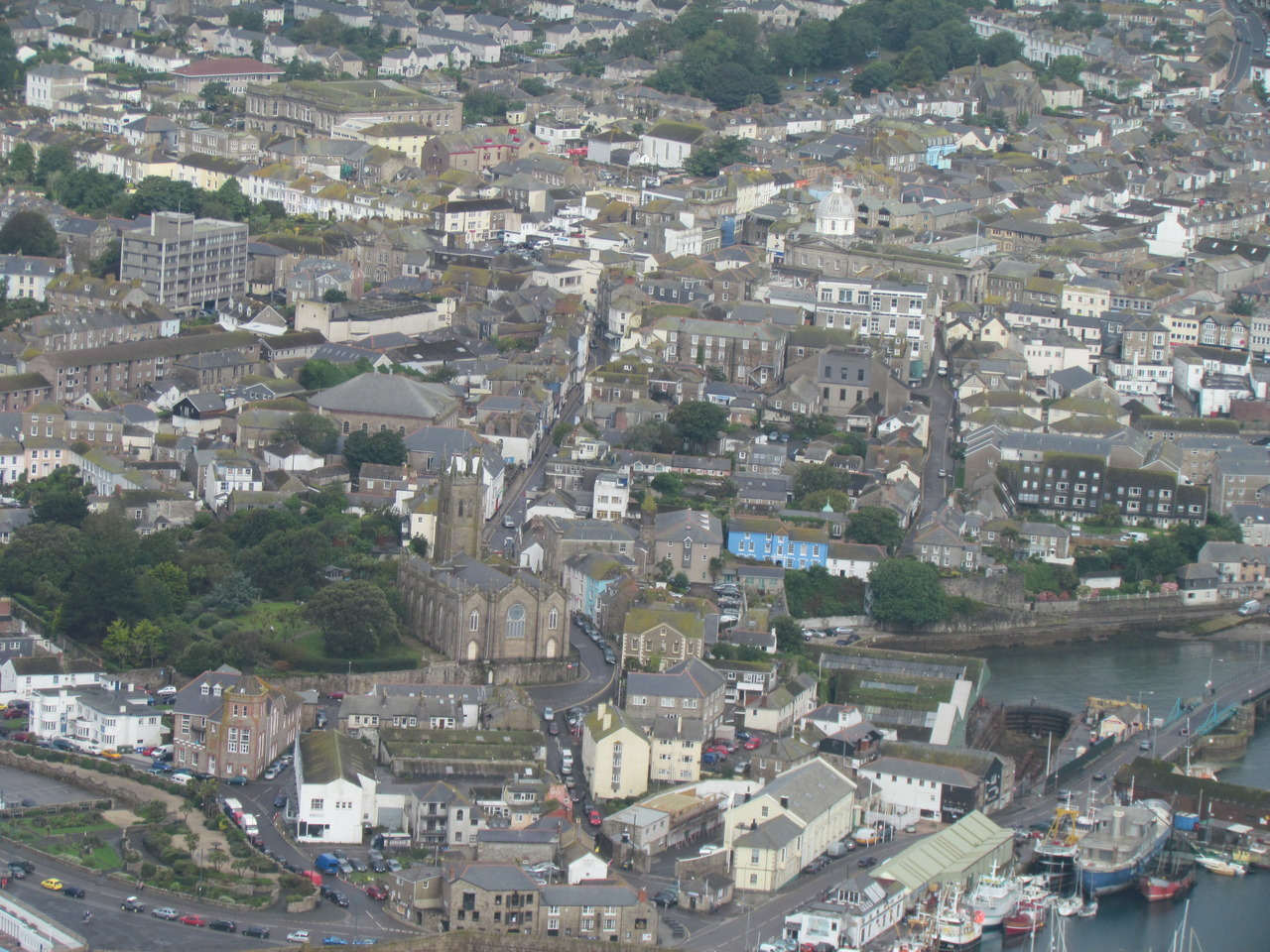 The Abbey from the Scilly's Helicopter! Can you spot us?