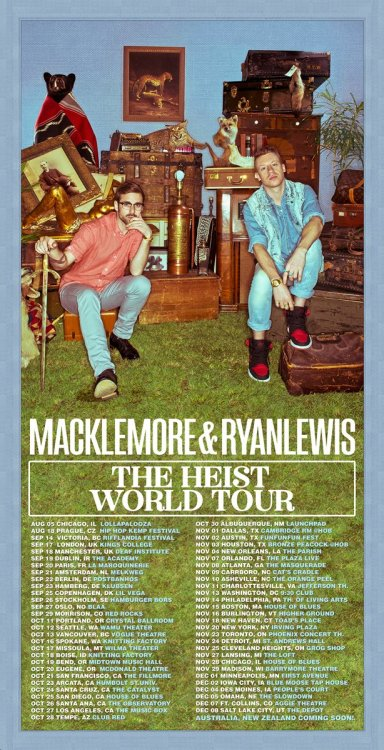 .@Macklemore and @RyanLewisMusic announce new album and tour - dates are below!