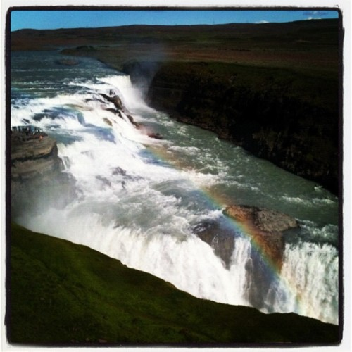 The wonders of nature! #waterfall #nature #mountain #rainbow #instagood #iceland #instabeauty #picoftheday #water #amazing #beautiful #fantastic #lovely #wheretherainbowends (Taken with Instagram)