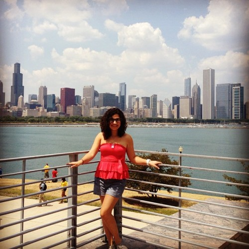 In love with the city. At Adler Planetarium #chicago #adler #foodie #city #view #love #windycity (Taken with Instagram)
