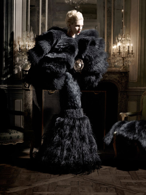 harpersbazaar:  High Society Karl Lagerfeld, August 2012