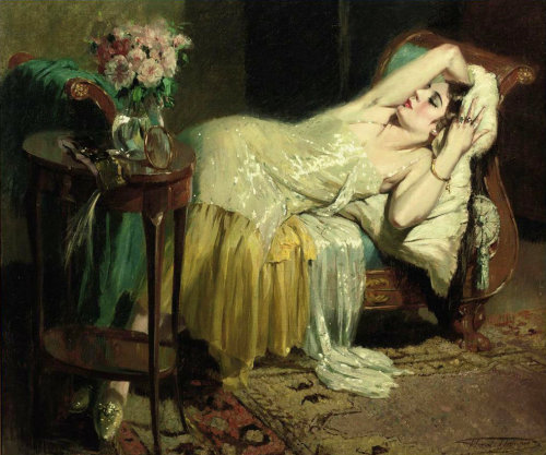 distant-and-flickering:  poboh:  After a night out, Henri Joseph Thomas. (1878 - 1972)