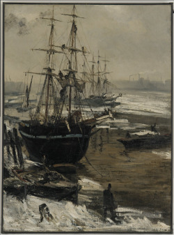 James McNeill Whistler The Thames in Ice / 1860