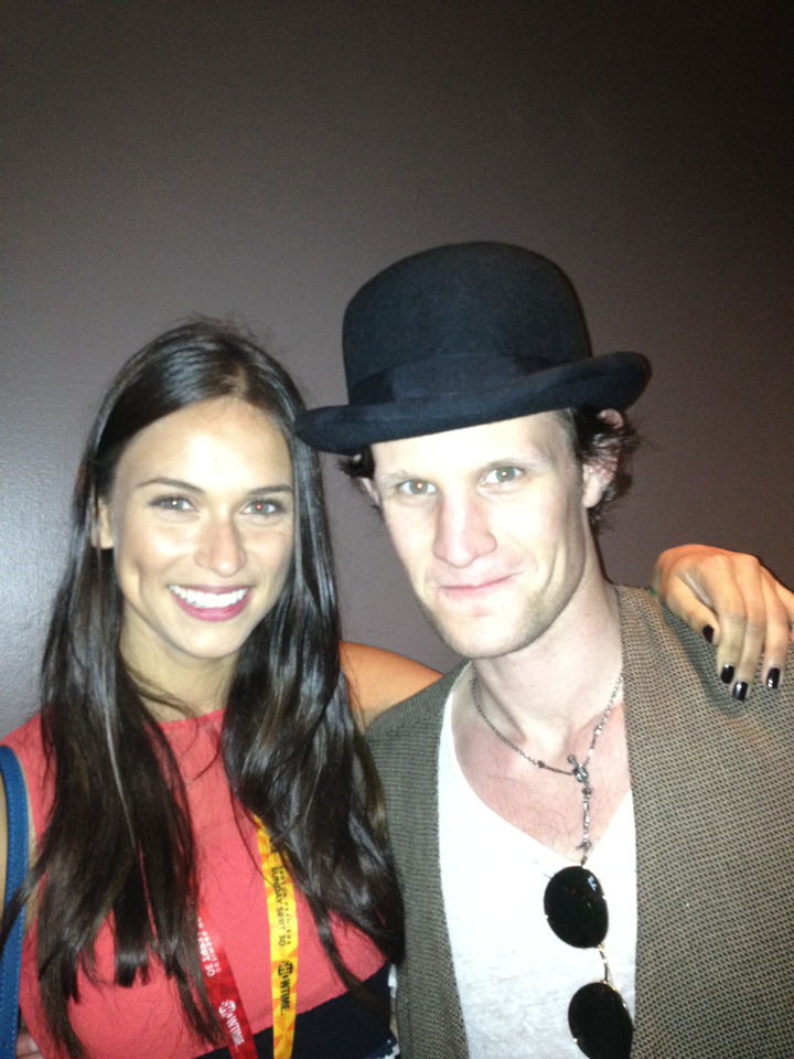 I bumped into this lovely chap at Comic Con, San Diego. The eleventh Doctor Who, Matt Smith. Who doesn't love a man in a bowler hat? ;)