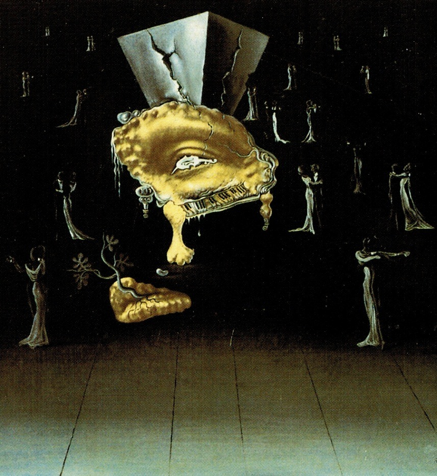 Salvador Dali's design for the deleted ballroom scene for Spellbound, Alfred Hitchcock, 1945
