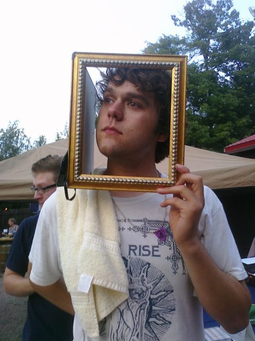 This is Pat, the singer. As you can see, the boys have been having framing issues. Thanks to Ashley Hall for the photo.