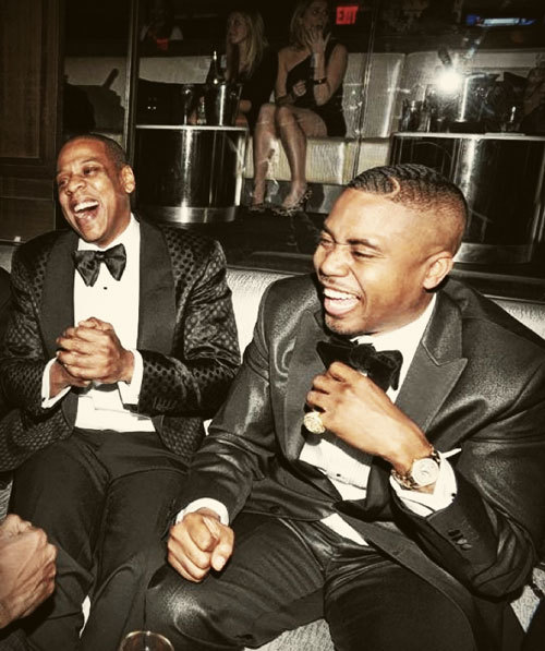 "Photograph (2012) Jay-Z + Nas @ 40/40 Club ""Worst enemies wanna be my best friends / best friends wanna be enemies like that's what's in."" - @Nas // Success Photo Source: FamousDC.com"