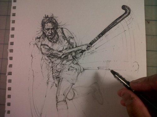 Work in progress of a NEW Field Hockey piece
