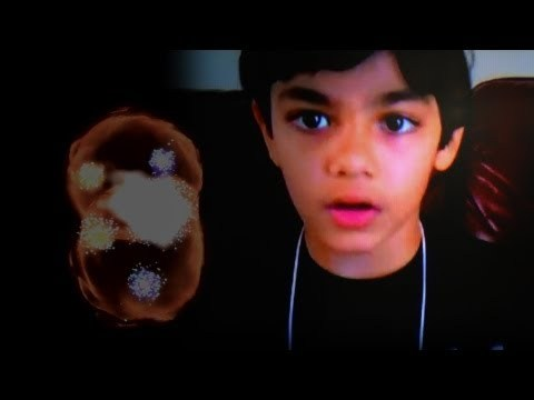 9-Year Old Prodigy Explains Higgs Boson (God Particle) 9 Year old COLLEGE STUDENT (yes that's correct) Tanishq Abraham talks about the recent discovery of the Higgs Boson.