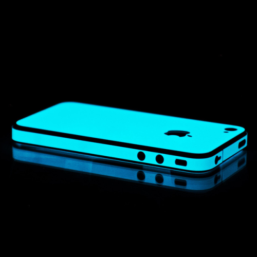 jaymug:  Blue Glow in the Dark iPhone Skin
