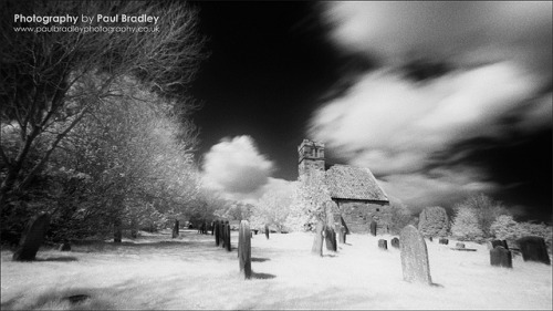 Upleatham (IR Monochrome) on Flickr.Processed for a more traditional film look … the remains of Upleatham church, N. Yorks. Filtered infrared on Canon 350D.