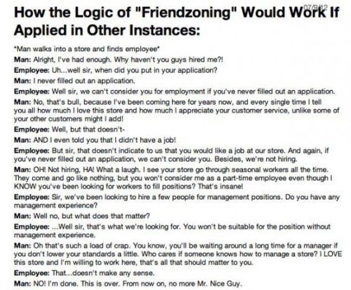 The Logic of 'Friend Zoning' Whether you're dating, in love, or just Facebook stalking, relationships are weird. See all the Rough Love stories here