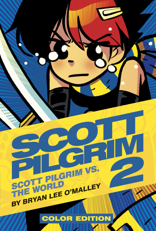 "radiomaru:  here's the cover for Scott Pilgrim Color Edition Vol 2, which is coming out in November! it's also up on amazon for preorder. vol 1 isn't even released for another month…. D:   ""YOU DON'T KNOW…!??!?!?"""