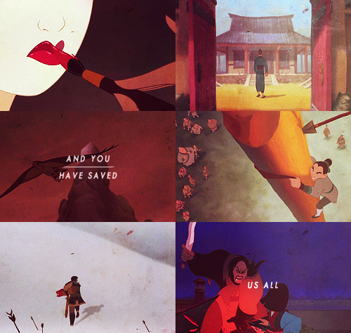 "○ Mulan (1998) ""The flower that blooms in adversity is the most rare and beautiful of all."""