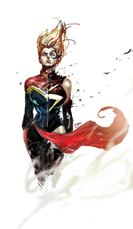 "dr-killjoy:  ""Ms Captain Marvel"" by Dexter Soy  I bought the first issue of Captain Marvel today. I personally enjoyed it."
