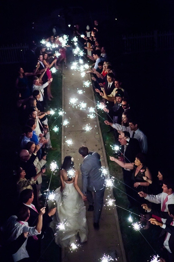 WEDDING WEDNESDAY sparklers! great idea for the reception!