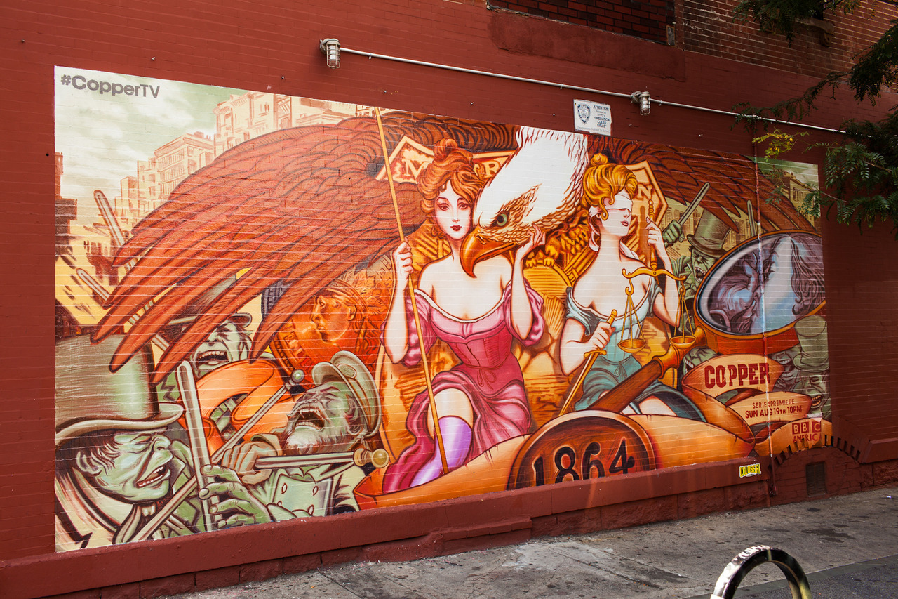 """Copper"" mural designed by Collabros, painted by Colossal for the BBC"
