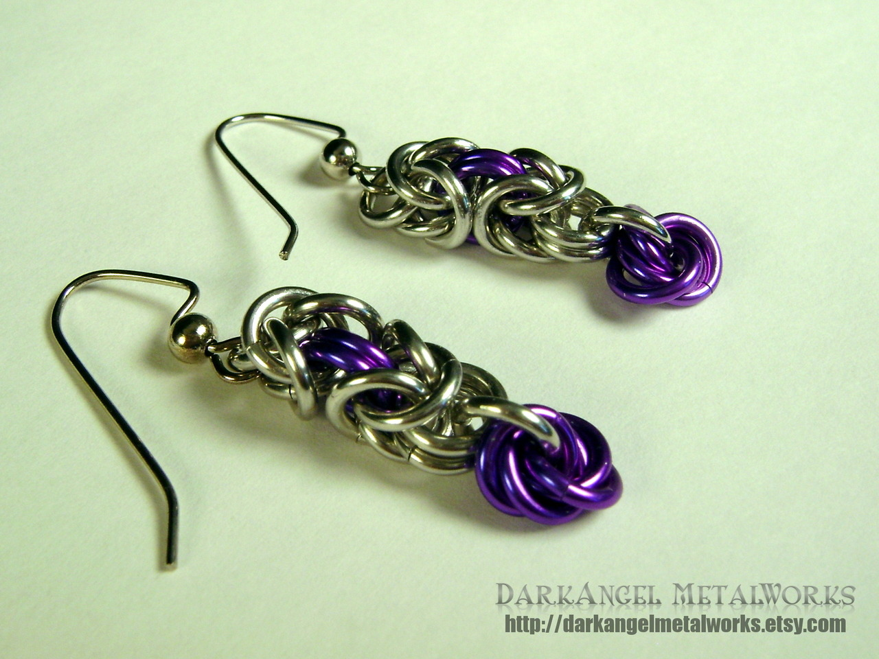 Purple Mobius Ball™ Dangle earring