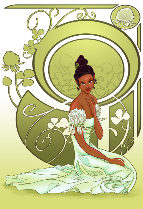 Disney Flowers- Tiana by *spicysteweddemon