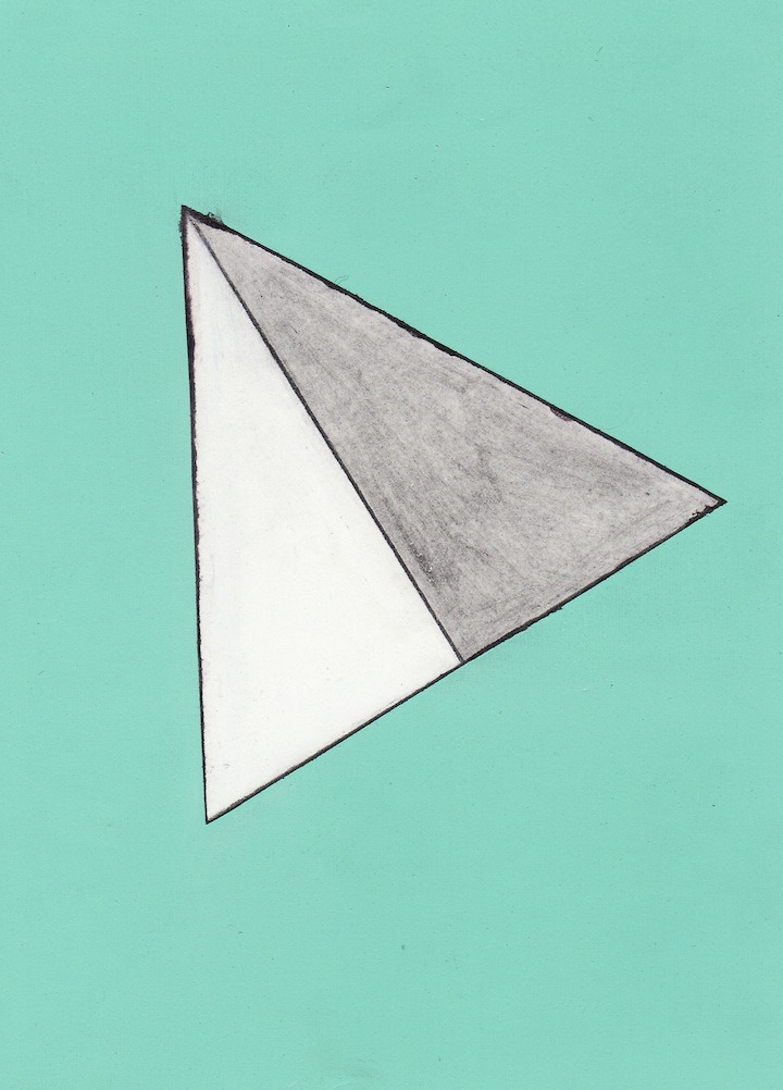 REDEEMER (FALLING PYRAMID ON GREEN). 2010 Topher Mileski