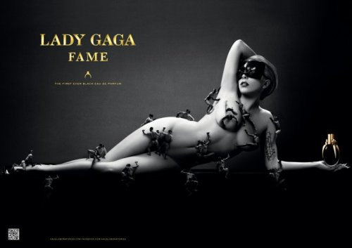 Photo by STEVEN KLEIN. The First Ever Black Eau de Parfum. Model: Lady Gaga.