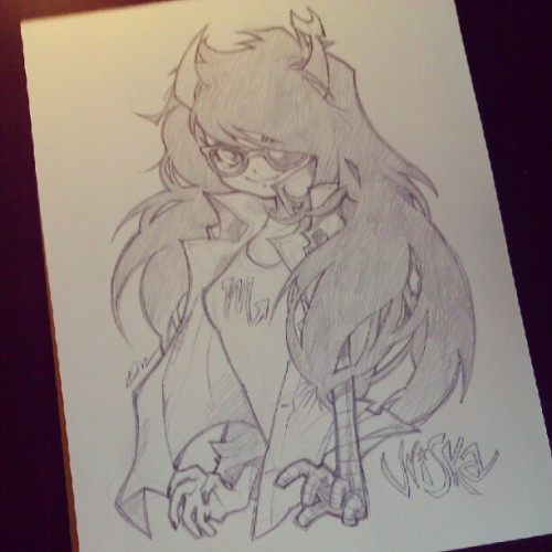 barachan:  Taken with Instagram  One of my favorite artists drawing one of my favorite characters from Homestuck? YES PLEASE.